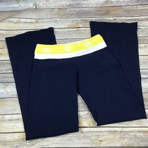 Lululemon Groove Pant Navy/yellow size 6